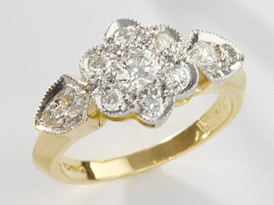 Victoria Rose Diamond Ring